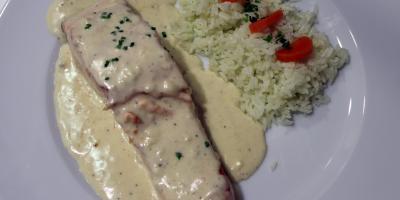 Salmón al Champagne - Restaurante Las Golondrinas