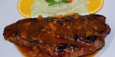 Solomillo de Cerdo a la Naranja - Restaurante Las Golondrinas