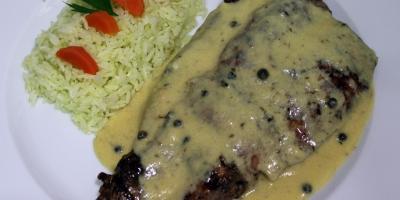Solomillo de Cerdo a la Pimienta - Restaurante Las Golondrinas