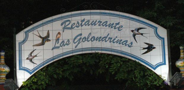 Cartel - Restaurante Las Golondrinas